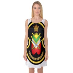 Shield Of The Imperial Iranian Ground Force Sleeveless Satin Nightdress