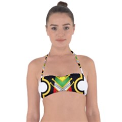 Shield Of The Imperial Iranian Ground Force Halter Bandeau Bikini Top