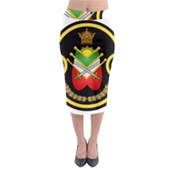 Shield Of The Imperial Iranian Ground Force Midi Pencil Skirt