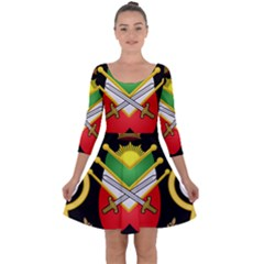 Shield Of The Imperial Iranian Ground Force Quarter Sleeve Skater Dress