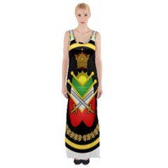 Shield Of The Imperial Iranian Ground Force Maxi Thigh Split Dress