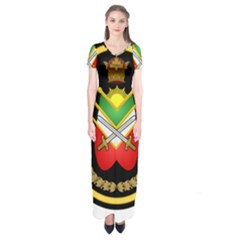Shield Of The Imperial Iranian Ground Force Short Sleeve Maxi Dress