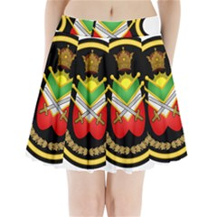 Shield Of The Imperial Iranian Ground Force Pleated Mini Skirt