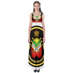 Shield Of The Imperial Iranian Ground Force Empire Waist Maxi Dress