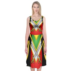 Shield Of The Imperial Iranian Ground Force Midi Sleeveless Dress