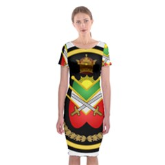 Shield Of The Imperial Iranian Ground Force Classic Short Sleeve Midi Dress