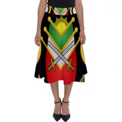 Shield Of The Imperial Iranian Ground Force Perfect Length Midi Skirt