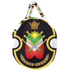 Shield Of The Imperial Iranian Ground Force Giant Round Zipper Tote