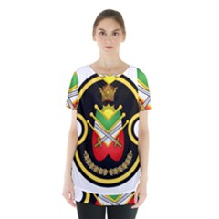 Shield Of The Imperial Iranian Ground Force Skirt Hem Sports Top