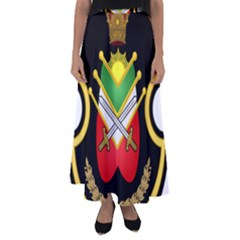 Shield Of The Imperial Iranian Ground Force Flared Maxi Skirt