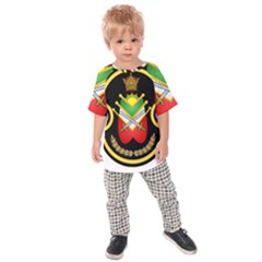 Shield Of The Imperial Iranian Ground Force Kids Raglan Tee