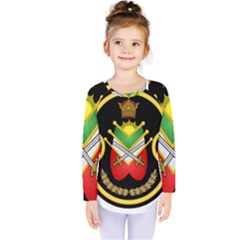 Shield Of The Imperial Iranian Ground Force Kids  Long Sleeve Tee