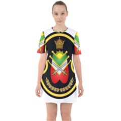 Shield Of The Imperial Iranian Ground Force Sixties Short Sleeve Mini Dress