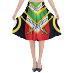 Shield Of The Imperial Iranian Ground Force Flared Midi Skirt