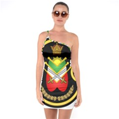 Shield Of The Imperial Iranian Ground Force One Soulder Bodycon Dress