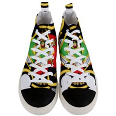 Shield Of The Imperial Iranian Ground Force Men s Mid Top Canvas Sneakers