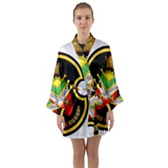 Shield Of The Imperial Iranian Ground Force Long Sleeve Kimono Robe