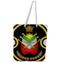 Shield Of The Imperial Iranian Ground Force Full Print Rope Handle Tote (large)
