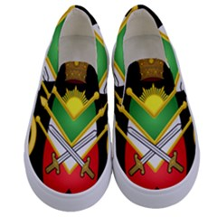 Shield Of The Imperial Iranian Ground Force Kids  Canvas Slip Ons