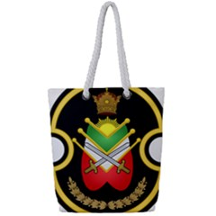 Shield Of The Imperial Iranian Ground Force Full Print Rope Handle Tote (small)