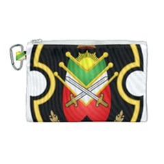 Shield Of The Imperial Iranian Ground Force Canvas Cosmetic Bag (large)