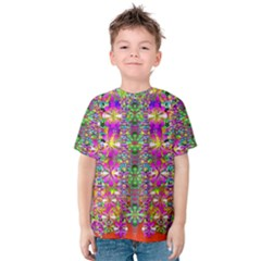 Flower Wall With Wonderful Colors And Bloom Kids  Cotton Tee