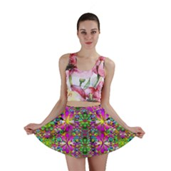 Flower Wall With Wonderful Colors And Bloom Mini Skirt
