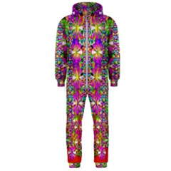 Flower Wall With Wonderful Colors And Bloom Hooded Jumpsuit (men)