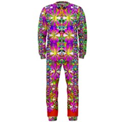Flower Wall With Wonderful Colors And Bloom Onepiece Jumpsuit (men)