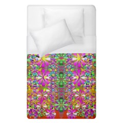 Flower Wall With Wonderful Colors And Bloom Duvet Cover (single Size)