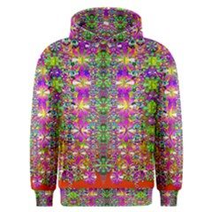 Flower Wall With Wonderful Colors And Bloom Men s Overhead Hoodie