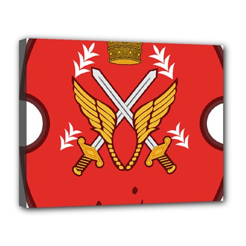 Seal Of The Imperial Iranian Army Aviation  Canvas 14  X 11