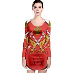 Seal Of The Imperial Iranian Army Aviation  Long Sleeve Bodycon Dress