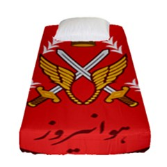 Seal Of The Imperial Iranian Army Aviation  Fitted Sheet (single Size)