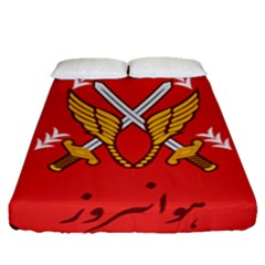 Seal Of The Imperial Iranian Army Aviation  Fitted Sheet (queen Size)
