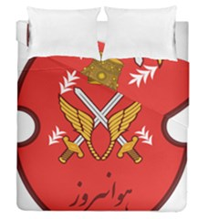 Seal Of The Imperial Iranian Army Aviation  Duvet Cover Double Side (queen Size)