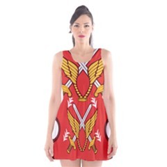 Seal Of The Imperial Iranian Army Aviation  Scoop Neck Skater Dress