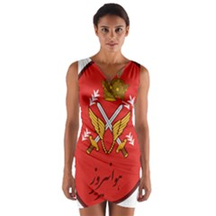 Seal Of The Imperial Iranian Army Aviation  Wrap Front Bodycon Dress