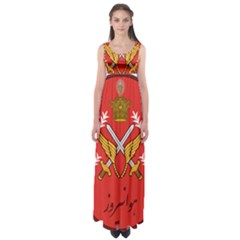 Seal Of The Imperial Iranian Army Aviation  Empire Waist Maxi Dress