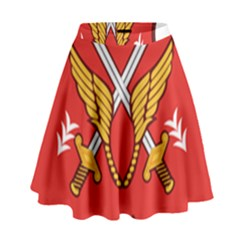 Seal Of The Imperial Iranian Army Aviation  High Waist Skirt