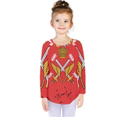 Seal Of The Imperial Iranian Army Aviation  Kids  Long Sleeve Tee