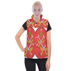 Seal Of The Imperial Iranian Army Aviation  Women s Button Up Vest