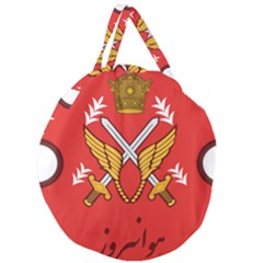 Seal Of The Imperial Iranian Army Aviation  Giant Round Zipper Tote