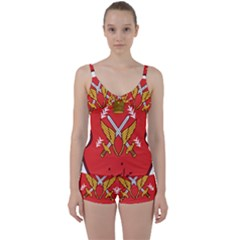 Seal Of The Imperial Iranian Army Aviation  Tie Front Two Piece Tankini