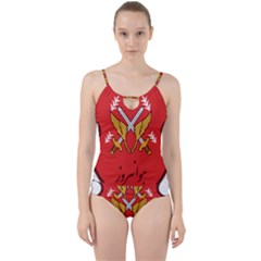 Seal Of The Imperial Iranian Army Aviation  Cut Out Top Tankini Set