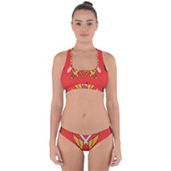 Seal Of The Imperial Iranian Army Aviation  Cross Back Hipster Bikini Set