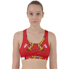 Seal Of The Imperial Iranian Army Aviation  Back Weave Sports Bra