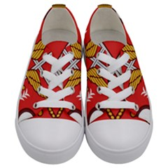 Seal Of The Imperial Iranian Army Aviation  Kids  Low Top Canvas Sneakers