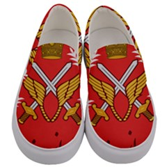 Seal Of The Imperial Iranian Army Aviation  Men s Canvas Slip Ons