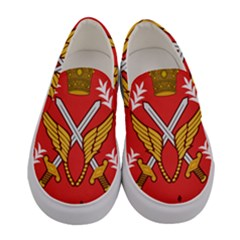 Seal Of The Imperial Iranian Army Aviation  Women s Canvas Slip Ons